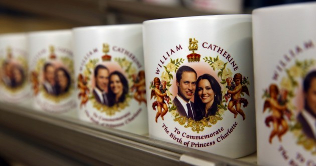 That was fast: Princess Charlotte souvenirs are already on sale in Britain