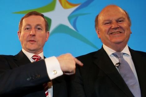 Taoiseach Enda Kenny and Finance Minister Michael Noonan