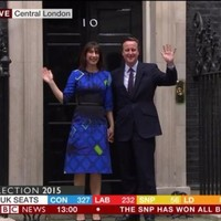 Here's why everyone is talking about Samantha Cameron's trippy dress