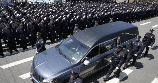 Thousands bid farewell to NYPD officer who was shot in the head by an ex-convict