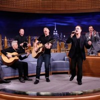 Bono took the piss out of his bike accident during a sketch with Jimmy Fallon