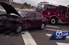 Footage emerges of crash scene allegedly caused by ex-UFC champ Jon Jones
