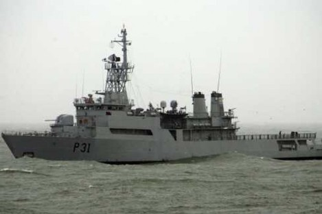Irish Navy vessel the LÉ Eithne
