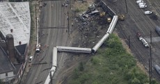 Philadelphia train was travelling at above 100 mph before fatal derailment