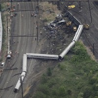 Philadelphia train was travelling at above 100 mph before fatal derailment