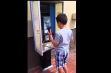 This kid's baffled reaction to a pay phone will make you feel ancient