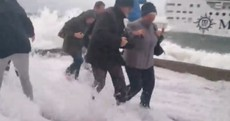 """""""That's what they thought of us"""": Dubliners soaked by massive wave from luxury liner"""