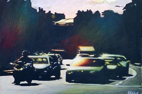 Joby Hickey's 'Leeson Street' painting.