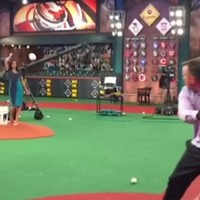 This presenter got brutally hit in the face with a baseball on live TV