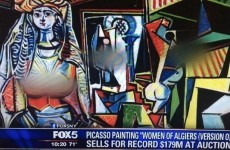 News station blurs out breasts on Picasso painting