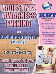 A Galway garage is holding a 'Ladies Tyre Awareness Evening'
