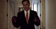 Failed presidential candidate Mitt Romney is fighting Evander Holyfield