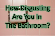 How Disgusting Are You In The Bathroom?