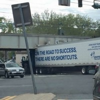 This truck crash created maybe the most ironic photo you will ever see