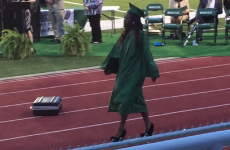 Girl faceplants at graduation, demonstrates the perils of high heels