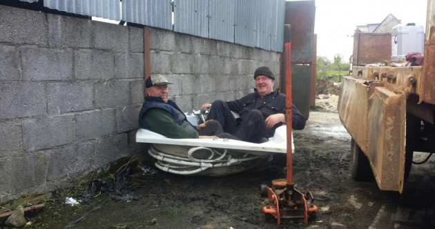 Roscommon farmers sitting in a bath urging people to use their vote is oddly touching