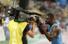 Justin Gatlin ran the 100m in 9.74 seconds on Friday