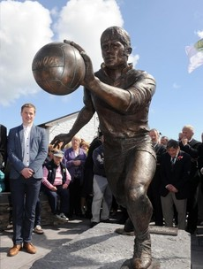 A life-size statue of a Kerry legend was unveiled earlier today