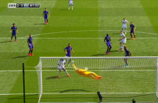 Joe Hart pulled off one of the saves of the season as City guaranteed a top-three finish
