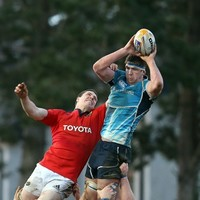 A former Leinster second row's team are one game away from promotion to the Top 14
