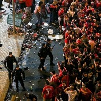 Father attacked in front of his kids as Benfica title celebrations turn ugly