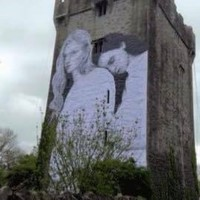 A new marriage equality mural with two women has gone up on a castle in Galway