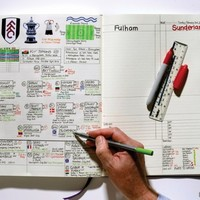 Take a look at BBC commentator Nick Barnes' beautiful football 'bible'