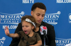 Daddy scored 34 points but Steph Curry's daughter was the star of Game 1