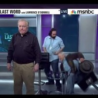 Bill Murray got drunk and fell off a stool on live TV