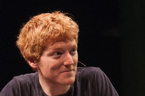 Patrick Collison, speaking at TechCrunch Disrupt Europe in 2013.