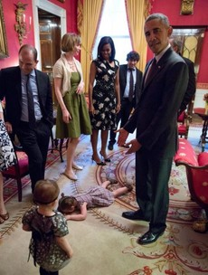 This toddler threw a fit in front of President Obama