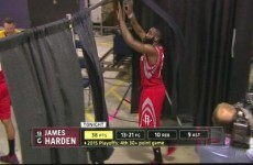 'Knocking over the curtains' became a new US sports phrase thanks to James Harden last night