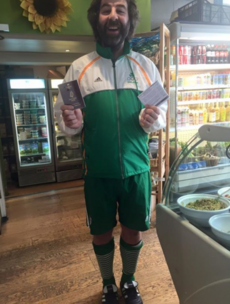 Would you just look at the outfit comedian David O'Doherty wore to cast his vote