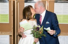 This couple went straight from their wedding to the polling station today