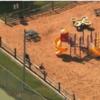 Woman found pushing her dead son on swings