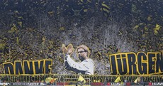 Borussia Dortmund fans bid an emotional and incredible farewell to Jurgen Klopp