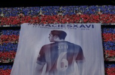 Xavi broke down in tears as Barcelona fans said farewell at the Camp Nou