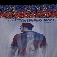 Xavi broke down in tears as Barcelona fans said farewell at the Camp Nou