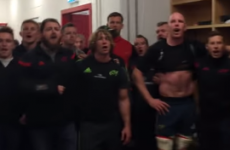 Paul O'Connell leads the victorious Munster dressing room for 'Stand Up And Fight'