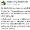 Yes Equality Roscommon wrote a heartfelt Facebook post in response to the county's No vote
