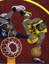 An injured LeBron James delivered one of the outstanding playoff performances last night