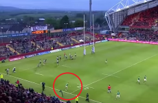 We could watch Ian Madigan's drop goal conversion over and over and over again