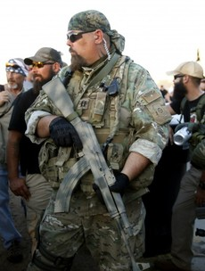 """Bikers armed with assault rifles tried to hold a """"Mohammed cartoon contest"""" outside a mosque"""