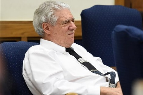 Wayne Burgarello listens as a witness takes the stand at the Washoe County District Court.