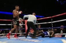 Video: Anthony Joshua took two rounds to stop his 'toughest test' Kevin Johnson last night