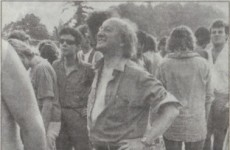 Have you seen this amazing photo of a young Michael D. Higgins at Slane concert?