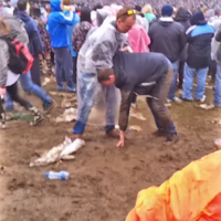 Here is a glorious compilation of people falling in the muck at Slane