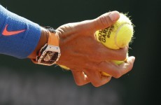 Rafael Nadal wears this €700,000 watch while he's playing tennis