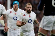 England's Joe Marler avoids serious injury after falling over his son's toy snake