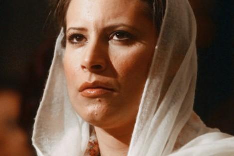 File photo dated April 2005 of Aisha Gaddafi.